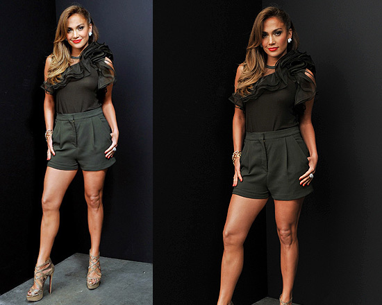 Jennifer Lopez wearing Valentino Ruffle Top on American Idol