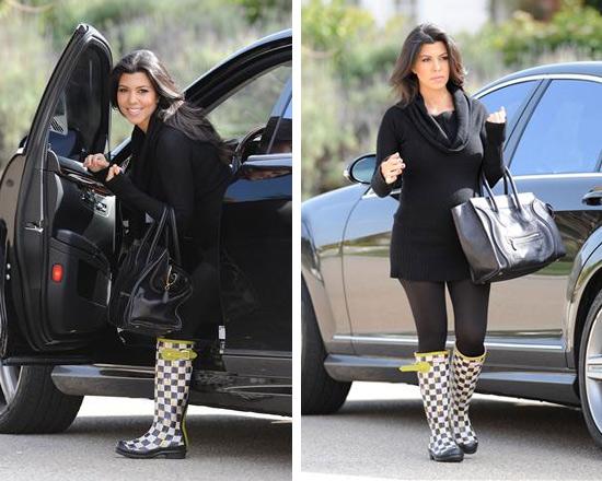 kourtney-kardashian-mackenzie-childs-courtley-check-hunter-boots