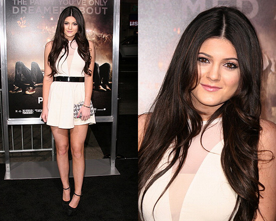 Kylie Jenner in For Love and Lemons Lulu Dress