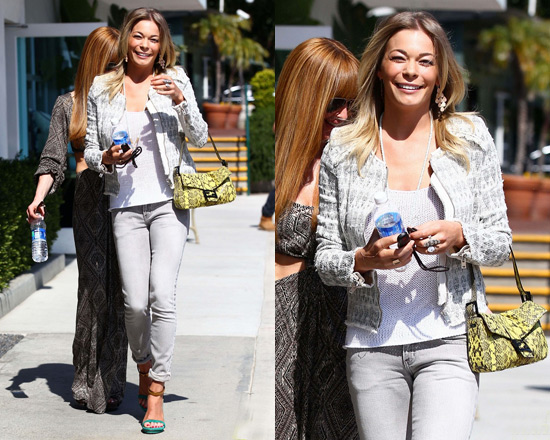 LeAnn Rimes leaving hair salon in IRO Uma Diamond Print Jacket