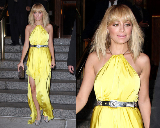 Nicole Richie in Julien Macdonald Empire layered silk-satin and chiffon gown