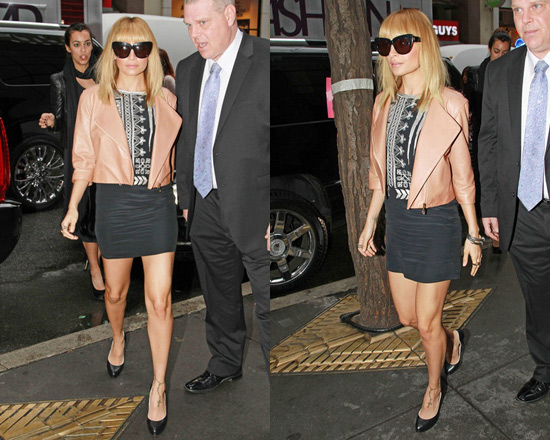 Nicole Richie in Winter Kate Riya Dress