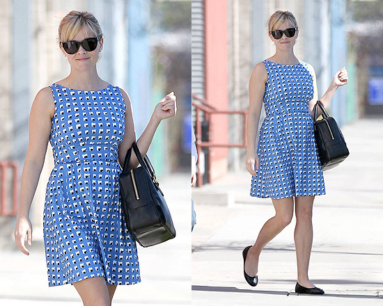 Reese Witherspoon goes to church in Kate Spade New York Sonja Dress