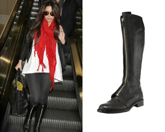 kim-kardashian-Givenchy-Front-Zip-Riding-Boot