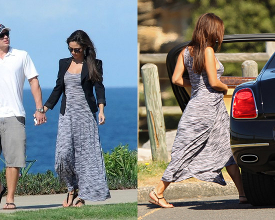 Vanessa Lachey in Michael Lauren Weston Long Dress