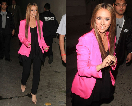 Jennifer Love Hewitt in Naven Blazer in Pop Pink