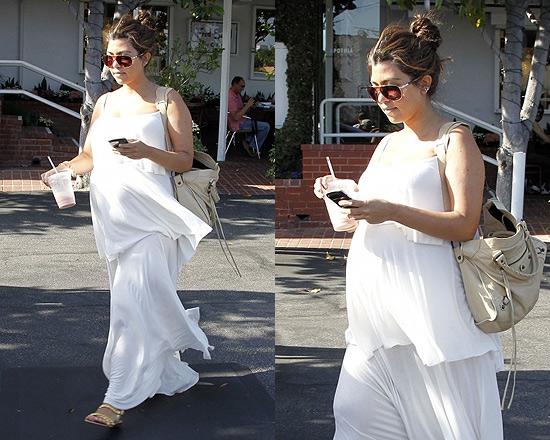 Kourtney Kardashian steps out in Rachel Pally Isela Maxi Dress