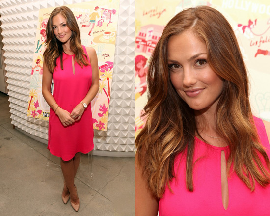 Minka Kelly in 3.1 Phillip Lim Sleeveless Tank Dress