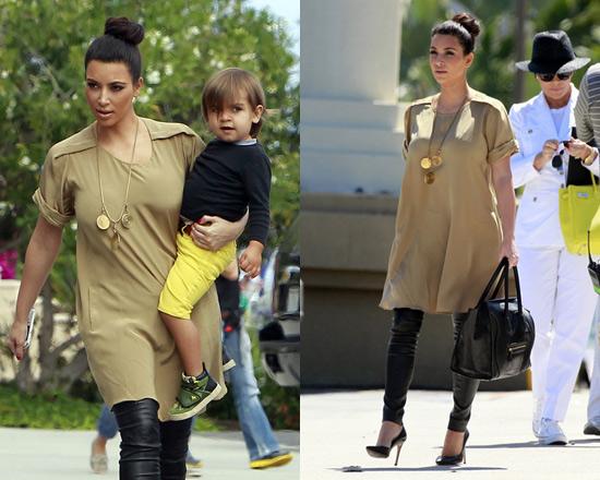 Kim Kardashian at San Diego Zoo wearing 3.1 Phillip Lim T-shirt Dress