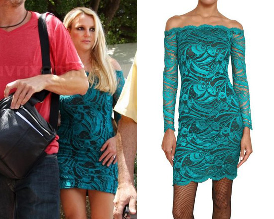 Britney Spears in Emilio Pucci Guipure Lace Dress