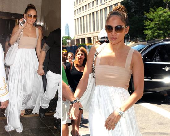 Jennifer Lopez Alc Elastic Pleated Maxi Dress