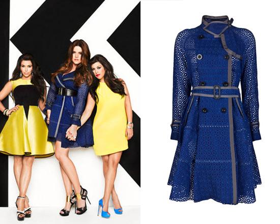 Khloe Kardashian in Sacai Eyelet Trench Coat