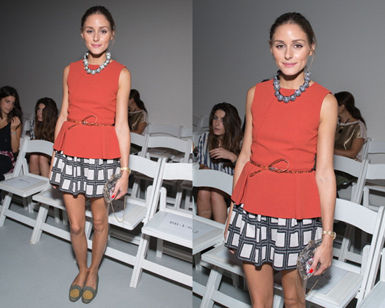 Olivia-Palermo-Tibi-Refined-Crepe-Top-and-Geo-Knit-Skirt