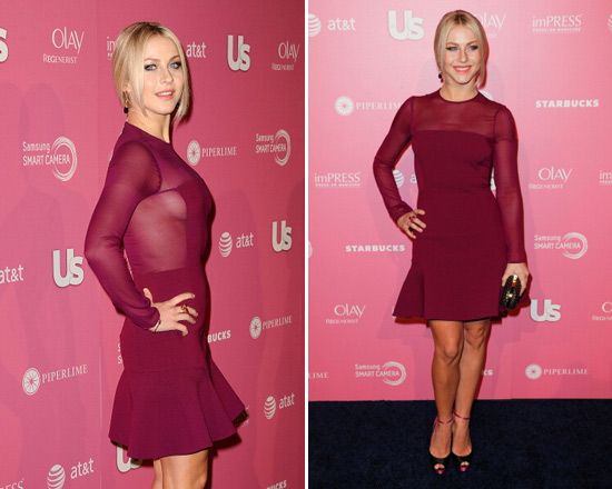 Julianne Hough in DKNY Peplum Hem Dress