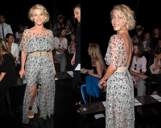 julianne-hough-Theyskens-Theory-Dystal-floral-print-silk-chiffon-maxi-dress