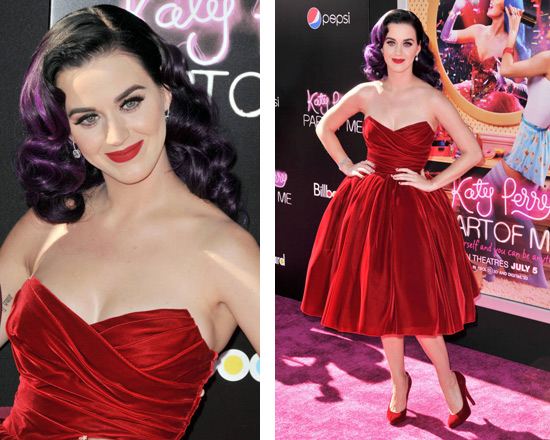katy-perry-Dolce-&-Gabbana-Strapless-Velvet-Dress