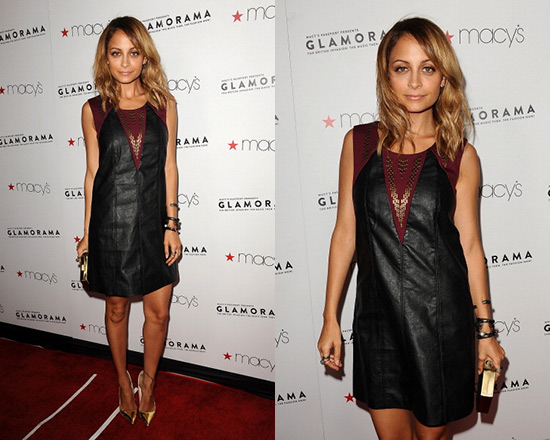 Nicole Richie for Impulse Sleeveless Scoop-Neck Faux-Leather Studded Mini Dress