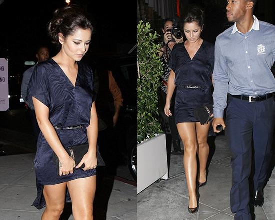 Cheryl Cole in Maison Martin Margiela Subtle Zebra Dress