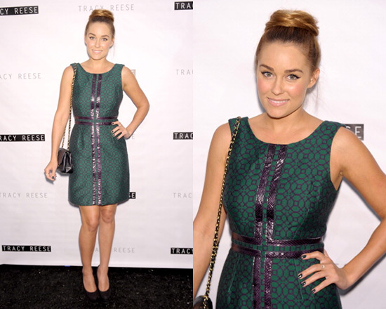 Lauren Conrad in Tracy Reese Sleeveless Jacquard Shift Dress