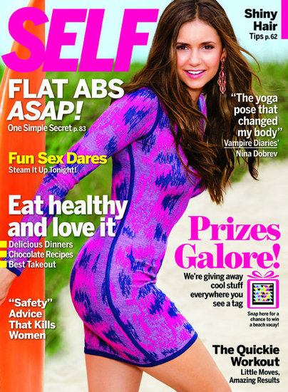 Nina Dobrev covers SELF magazine in Gryphon New York Animal-Print Dress