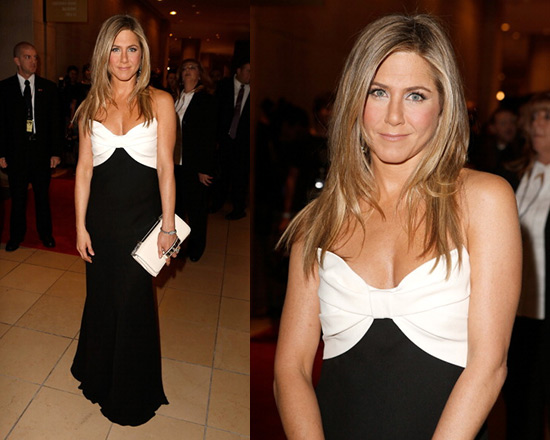 jennifer-aniston-Valentino-Ivory-Black-Silk-Gown