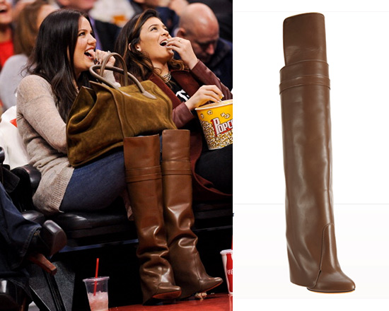 Khloe Kardashian wearing Givenchy Layered Shaft Tall Boots
