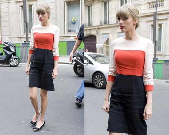 taylor-swift-Kate-Spade-New-York-parker-Colorblock-Sheath-Dress