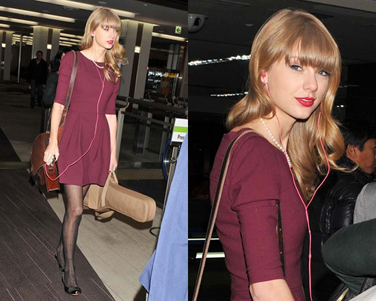 Taylor Swift in Shoshanna Leila Dress