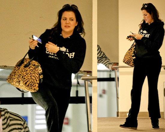 Khloe Kardashian wearing Brian Lichtenberg Homies Sweatshirt