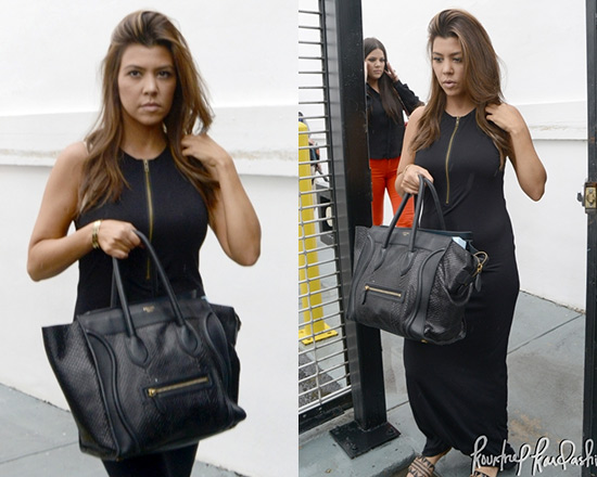 Kourtney Kardashian in Pencey Long Zip Tank Dress