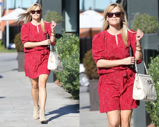 Reese Witherspoon in Vanessa Bruno Athé Floral Print Dress