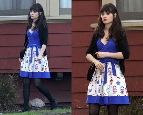 Zooey Deschanel in Eva Franco Doll in All Dress