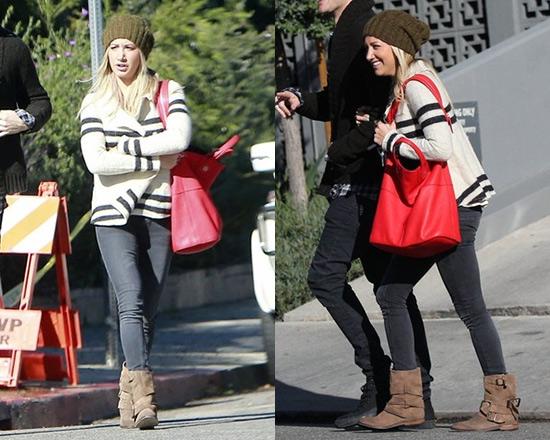 Ashley Tisdale wearing Free People Earned Stripes Jacket
