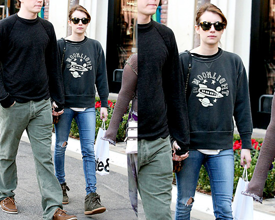Etoile Isabel Marant Noah Sweatshirt as seen on Emma Roberts