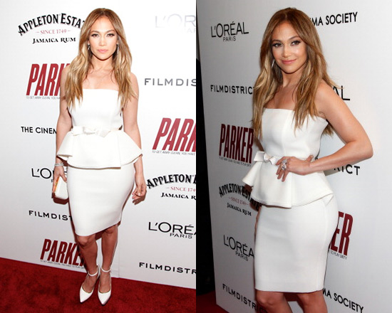 Jennifer Lopez in Lanvin Strapless Dress