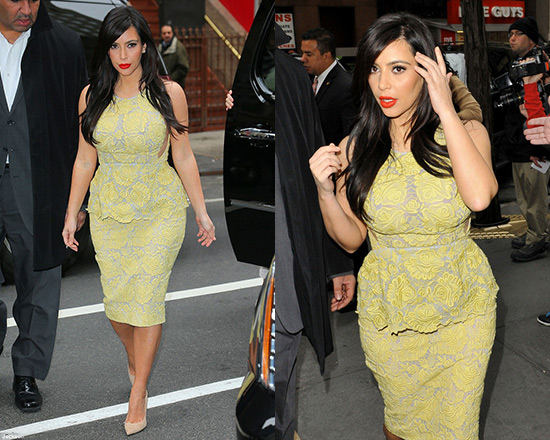 Kim Kardashian wearing Stella McCartney Lace Peplum Dress