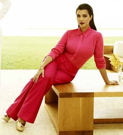 Kourtney Kardashian wearing Stella McCartney Tailored Trousers