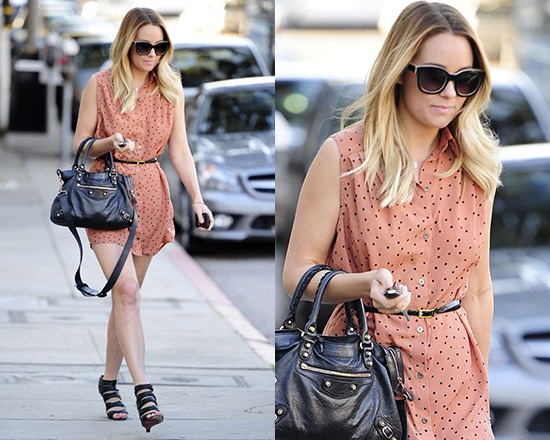 Lauren Conrad in Mink Pink Going Dotty Shirt Dress