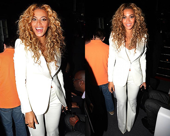 Beyonce in Alexander McQueen Leaf Jacket and Flared Trousers