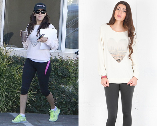 Eva Longoria steps out wearing Wildfox LA Skyline Baggy Beach Jumper