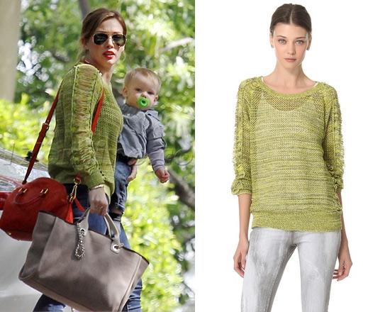 Hilary Duff wearing Lime Green IRO Kara Sweater