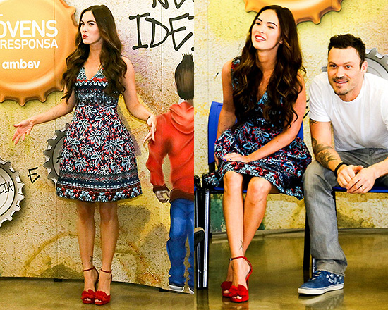 Megan Fox in Prabal Gurung Full Sheath Dress