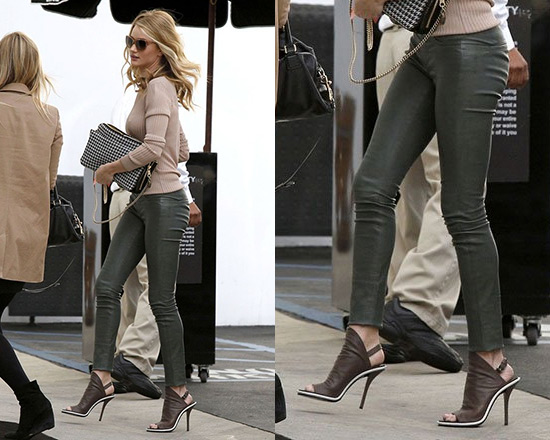 Balenciaga Glove Sandals as seen on Rosie Huntington-Whiteley