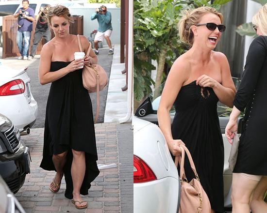 Britney Spears wearing Sky Elettra Dress