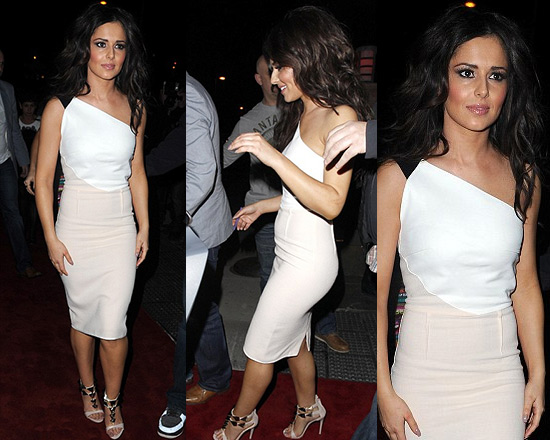 Cheryl Cole in Roland Mouret Belmont Color-block Dress