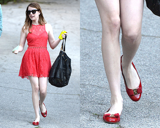 Emma Roberts in Style Stalker Love Me Do Lace Up Dress