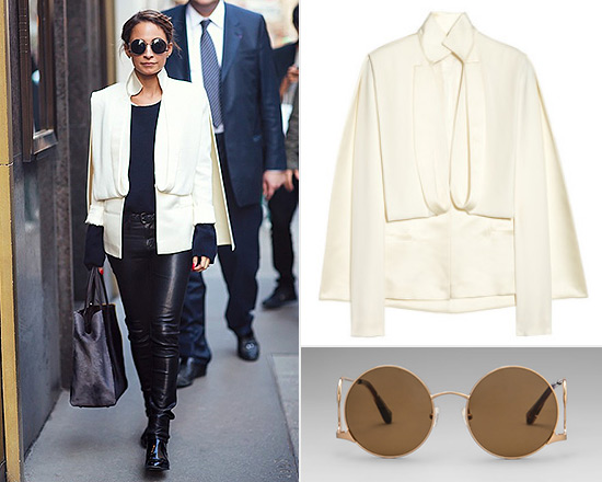 Nicole Richie wearing Esteban Cortazar Cape Jacket