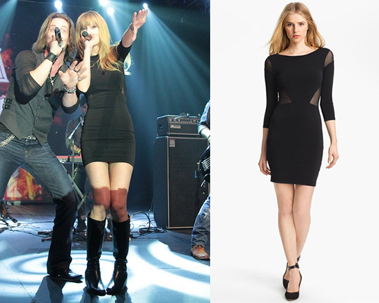 Taylor Swift in Elizabeth and James Sheer Inset Dress