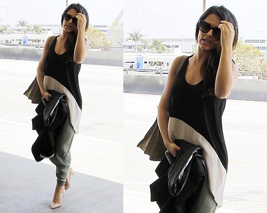 Cheryl Cole wears Mason by Michelle Mason Silk-trimmed Top
