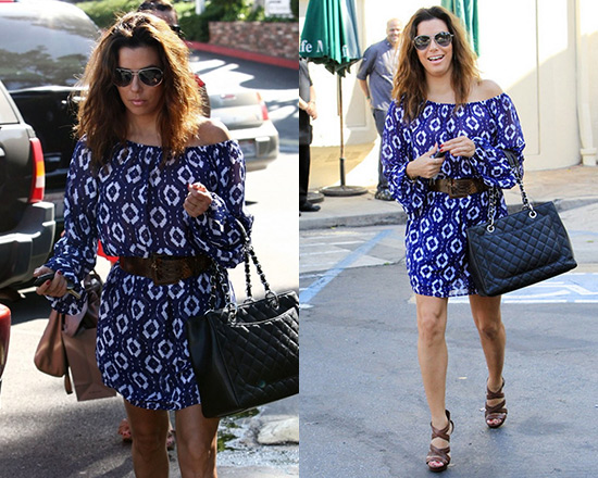 Eva Longoria wearing Show Me Your Mumu Lily Scrunch Dress
